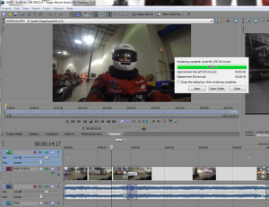 Editing a small video for our day at CIR.