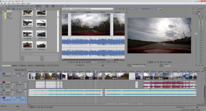 Sony Vegas 12 for video processing.  Sure, Adobe Premier may be more powerful, but I seem to do just fine with Vegas.  - Camera used in this video:  GoPro Hero4 Black