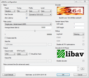 X264VFW codec is a public domain video encoder that's highly customizable and free (h.264/x.264 standard).
